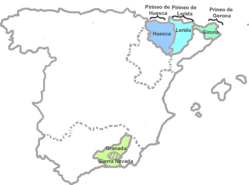 Mapa Estaciones Esqui España.Estaciones De Esqui De Espana Turismo De Montana En Espana