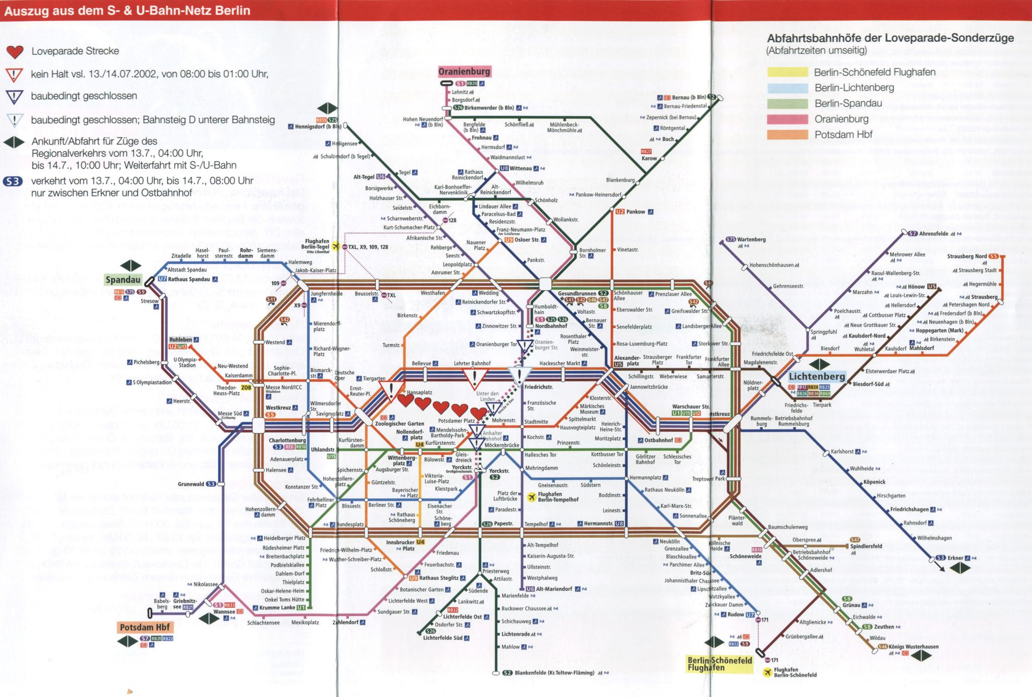 Metro De Berlin Mapa.Plano Transporte Berlin Mapa