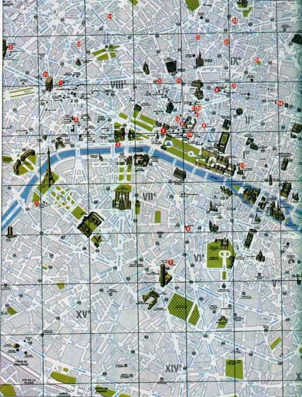 Mapas y Planos de Ciudades  Metro  Geografico de Francia