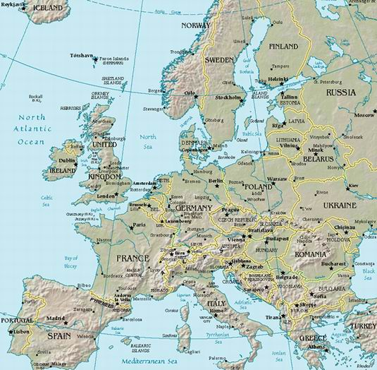 ihnnnohu mapa de europa politico